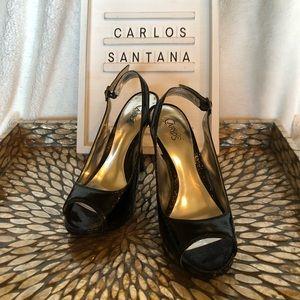 Carlos Santana Sexy Black Stilettos!